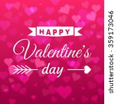 happy valentines day card with... | Shutterstock .eps vector #359173046