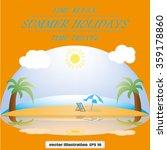 beach ocean | Shutterstock .eps vector #359178860