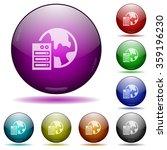 set of color web hosting glass...