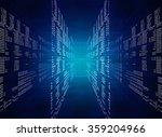 binary blue computer code | Shutterstock . vector #359204966