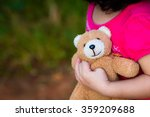 asian baby cute girl with curly ... | Shutterstock . vector #359209688