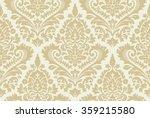 vector seamless damask pattern. ...