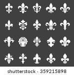 fleur de lis set | Shutterstock .eps vector #359215898