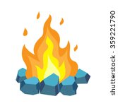 campfire isolated illustration... | Shutterstock .eps vector #359221790