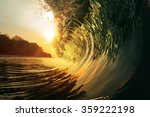 tropical paradise template with ... | Shutterstock . vector #359222198