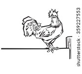 rooster | Shutterstock .eps vector #359227553