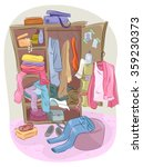 illustration of a closet... | Shutterstock .eps vector #359230373