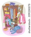 illustration of a closet... | Shutterstock .eps vector #359230373