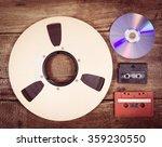 studio reel  cd  cassette  ... | Shutterstock . vector #359230550