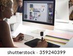 Stock photo graphic designer creativity editor ideas designer concept 359240399