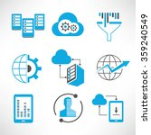 internet and network icons | Shutterstock .eps vector #359240549