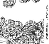 abstract wave hand drawn... | Shutterstock .eps vector #359249243
