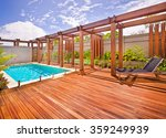 a beautiful view of pool in... | Shutterstock . vector #359249939