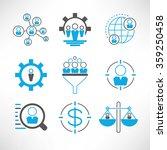 Business Management Icons Set ...