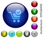 set of color checkout glass web ...