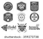 set of vector music production... | Shutterstock .eps vector #359273738