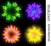 festive patterned firework ...   Shutterstock . vector #359278700