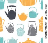 seamless pattern with teapots.... | Shutterstock .eps vector #359282450
