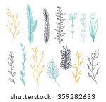 set of branches for decoration. ... | Shutterstock .eps vector #359282633