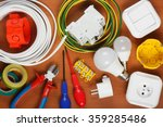 electrical equipment and  tools ... | Shutterstock . vector #359285486