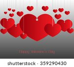 valentines day red heart.... | Shutterstock .eps vector #359290430