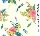 flowers. seamless pattern | Shutterstock .eps vector #359305484