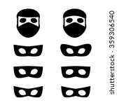 set of festive masks and thief... | Shutterstock .eps vector #359306540
