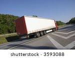 truck zooming past  tilted... | Shutterstock . vector #3593088