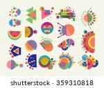 set of geometry elements ... | Shutterstock .eps vector #359310818