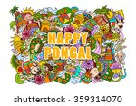vector illustration of happy... | Shutterstock .eps vector #359314070