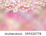 vector blossoming sakura tree  ...   Shutterstock .eps vector #359320778
