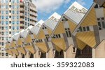 Yellow Cube Houses In Rotterda...