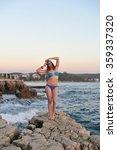young attractive blonde women... | Shutterstock . vector #359337320