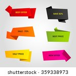 vector stickers  price tag ... | Shutterstock .eps vector #359338973
