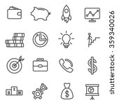 business icons thin line set | Shutterstock .eps vector #359340026