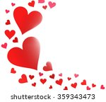 a many red hearts background | Shutterstock . vector #359343473