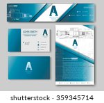 business cards design with... | Shutterstock .eps vector #359345714