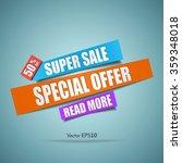 super sale paper banner....   Shutterstock .eps vector #359348018