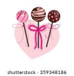 cake pops isolated on white... | Shutterstock .eps vector #359348186
