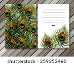 beautiful vector peacock... | Shutterstock .eps vector #359353460