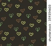seamless background with hearts | Shutterstock .eps vector #359354603