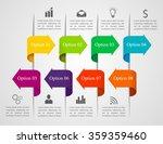 infographics arrow template.... | Shutterstock .eps vector #359359460