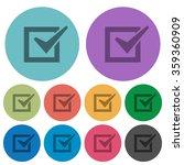 color checkbox flat icon set on ...