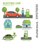 electric car flat infographic... | Shutterstock .eps vector #359370050