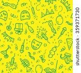 green carnival symbols in... | Shutterstock .eps vector #359371730