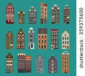 typical european houses.... | Shutterstock .eps vector #359375600