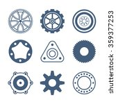 auto spare parts and gears flat ... | Shutterstock .eps vector #359377253