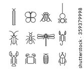 bug icons isolated on white... | Shutterstock .eps vector #359379998