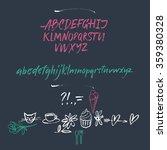 alphabet letters  lowercase ... | Shutterstock .eps vector #359380328