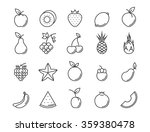 fruit outline icon set. vector... | Shutterstock .eps vector #359380478